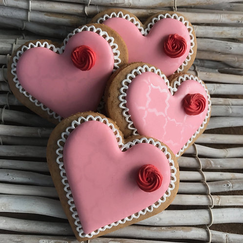 Gingerbread Heart with Rose Pink