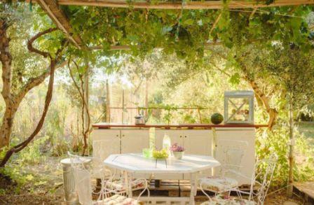 Eigen privé tuin aan jouw tent
