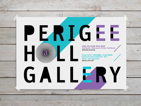 PERIGEE GALLERY exhibition poster