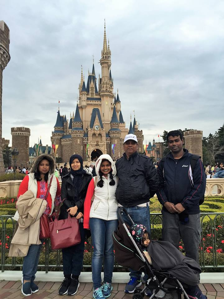 Disney land with family 2016