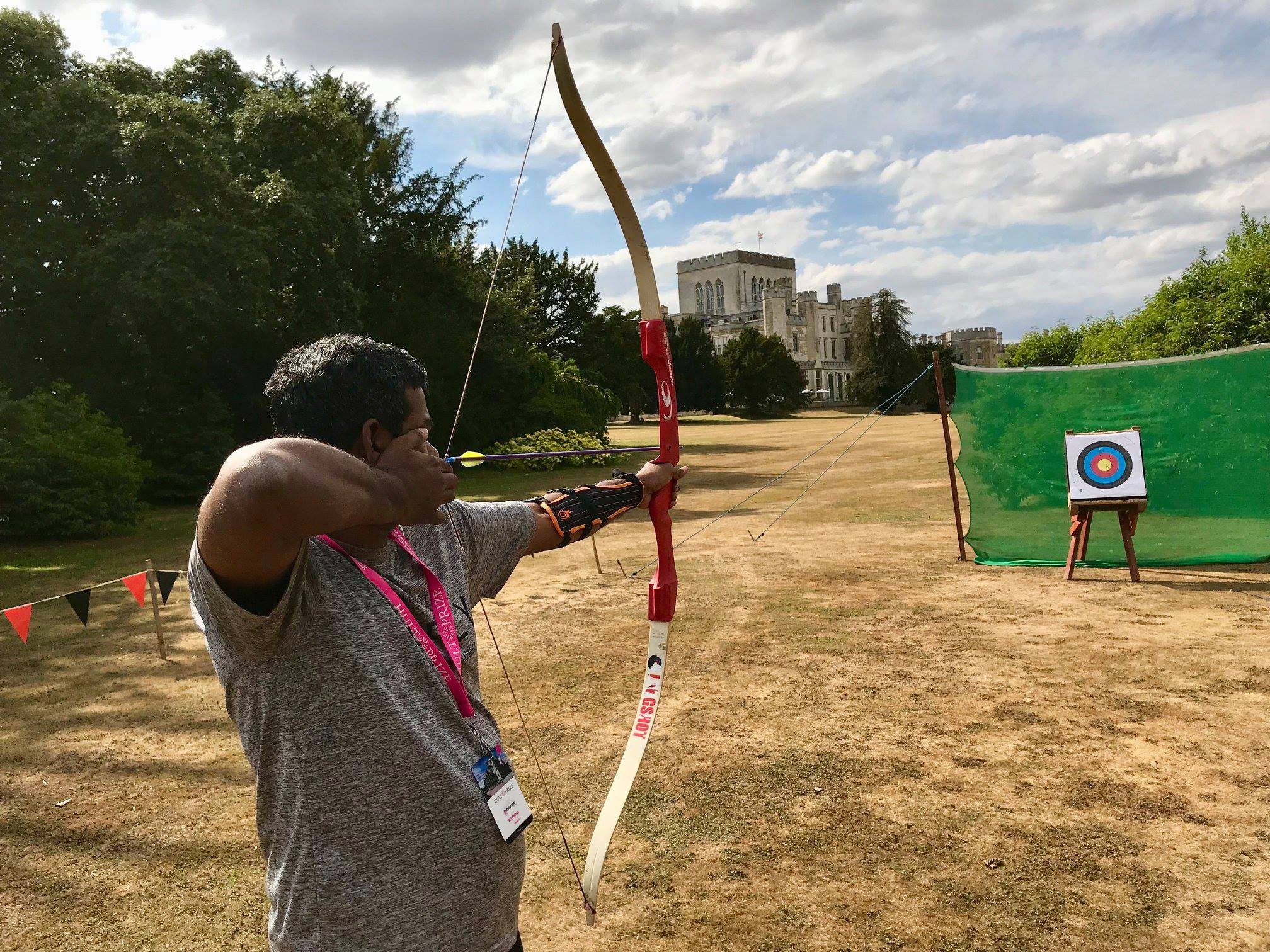 Aiming for future at Hult castle, UK 201