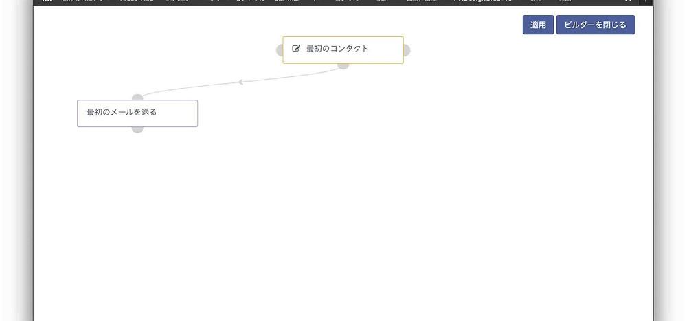 Mauticのキャンペーンビルダー画面(作成後)