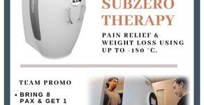 Subzero Therapy Promo!