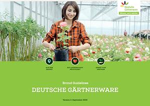 """Gestaltungsrichtlinien für die Nutzung des Logos """"Deutsche Gärtnerware"""""""