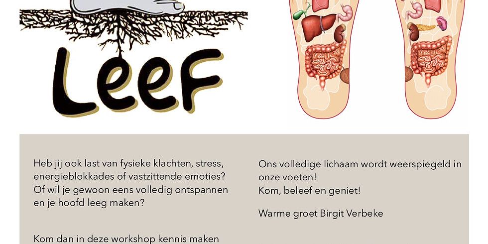 Workshop Voetreflexologie Basis- VOLZET!