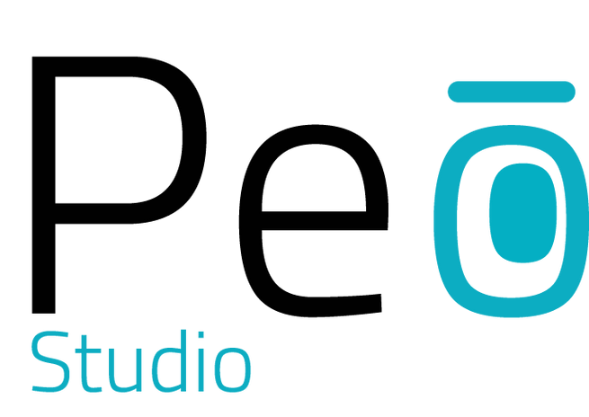 Logo Peo Studio nom en png fond transpar