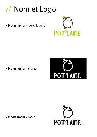 Charte graphique pot'laine logo plus nom