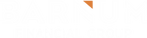 Barnum_Logo White with Orange Triangle f