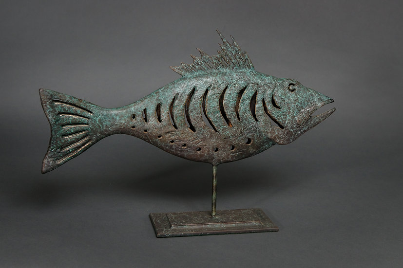 PRIMITIVE FISH IN BRONZE