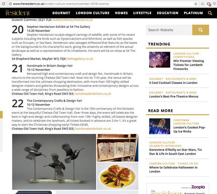 The Resident Magazine Mayfair, Online