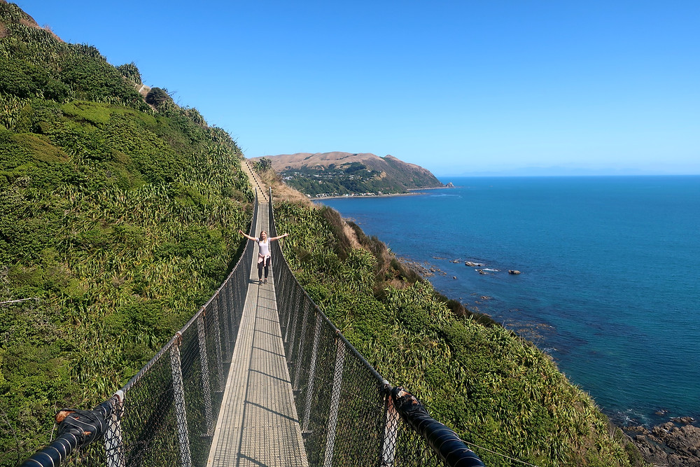 Nicola Standing on a suspend bridge in New Zealand