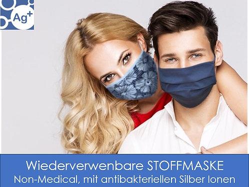 Stoffmaske - zum mehrmaligen Einsatz im 5er Pack