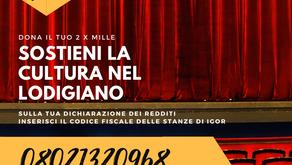 SOSTIENI LA CULTURA, DONACI IL 2 X 1000