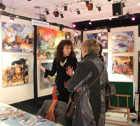 juliette agabr marché art  exposition