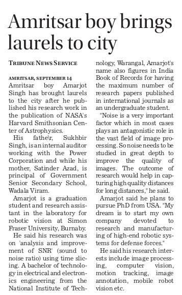 Nasa Paper Article