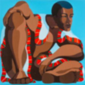 Big Man, 100x100cm acrylic on canvas Nir