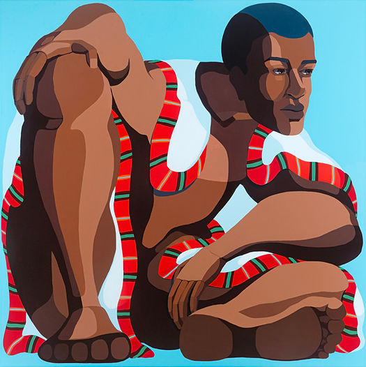 Big Man, 100x100cm acrylic on canvas Nir