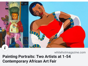 White Hot Magazine | Painting Portraits: Two Artists at 1-54 Contemporary African Art Fair