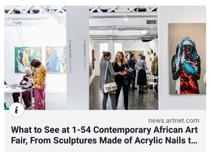 Artnet News | What to See at 1-54 Contemporary African Art Fair, From Sculptures Made of Acrylic Nai