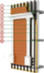 Ronson 600 - ventilated facade system for decorative elements