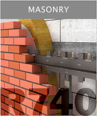 Ronson 740, masonry on ventilated facade