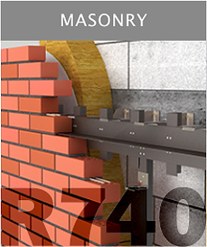 Ronson 740, masonry on suspended ventilated facade system