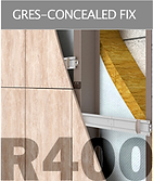 Ronson 400, gres- concealed fastening