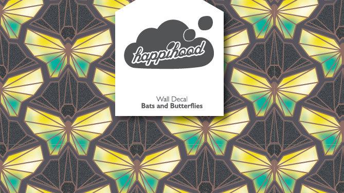 Bats and Butterflies Static Wall Sticker