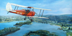 Tiger Moth over Lillydale Lake