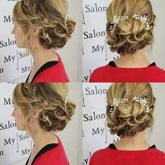 Wedding hair day! #mysalonames #weddings