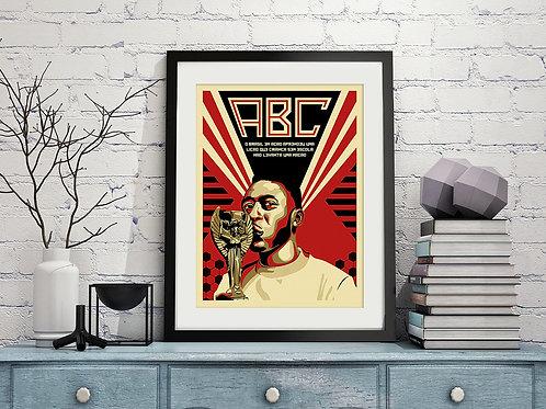 Poster ABC do Pelé