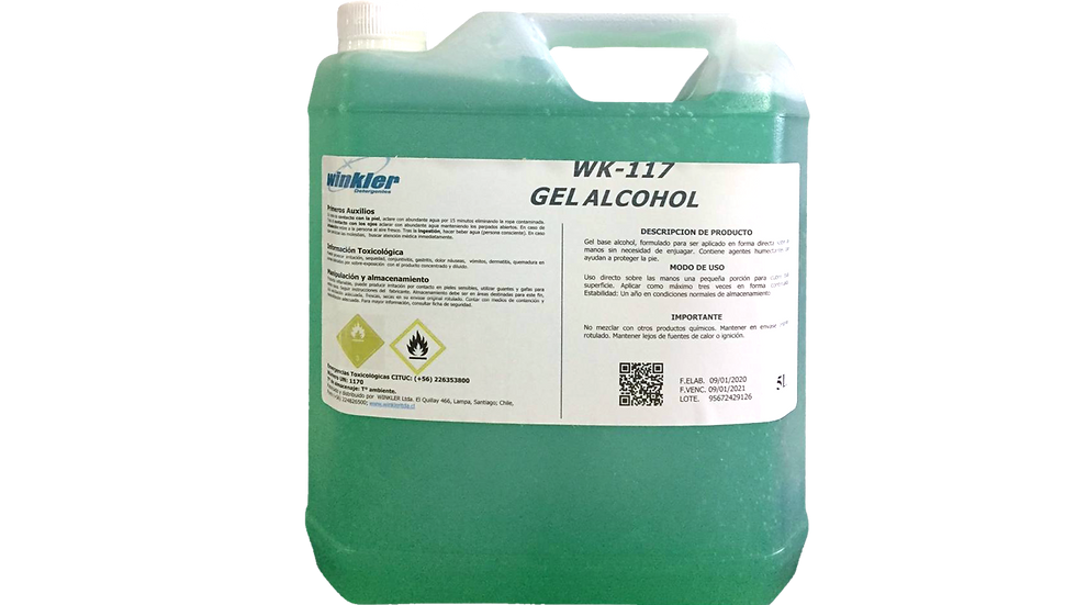 ALCOHOL GEL WINKLER 5 Lts