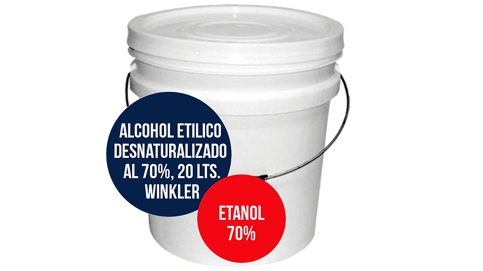 ALCOHOL ETILICO DESNATURALIZADO AL 70%, WINKLER, 20 LTS