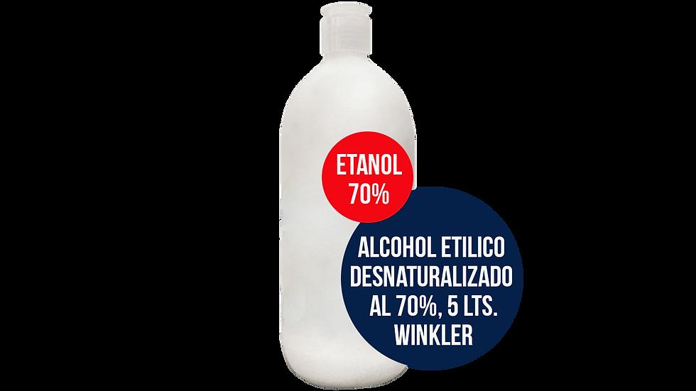 ALCOHOL ETILICO DESNATURALIZADO AL 70%, WINKLER, 1 LT