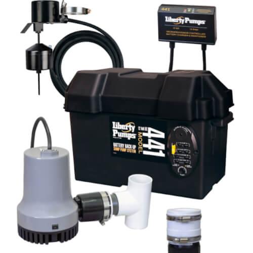 Battery BackUp Sump Pump System w alarm