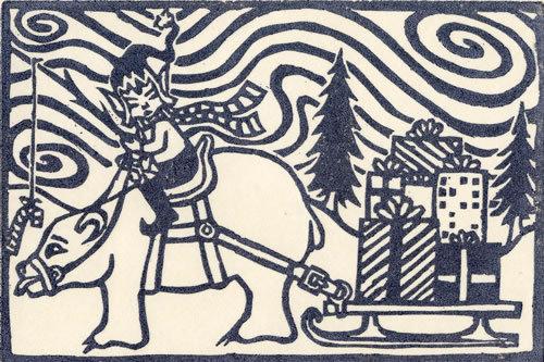 Young Santa card