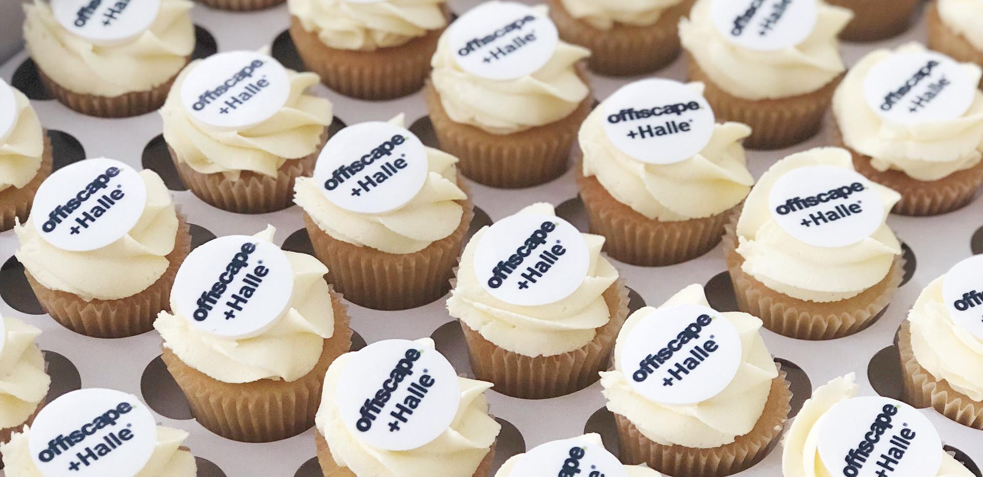 Logo Branded Mini Cupcakes
