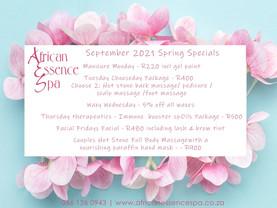 September 2021 Spring Specials