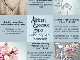 February 2021 Specials