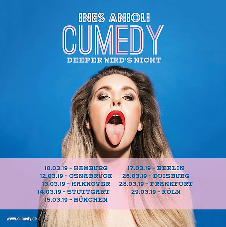 "Ines Aniloi ""Cumedy"", Berlin 2019"