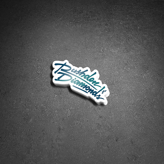 RUSHDEN & DIAMONDS - VINYL STICKER (LOGO TEAL)