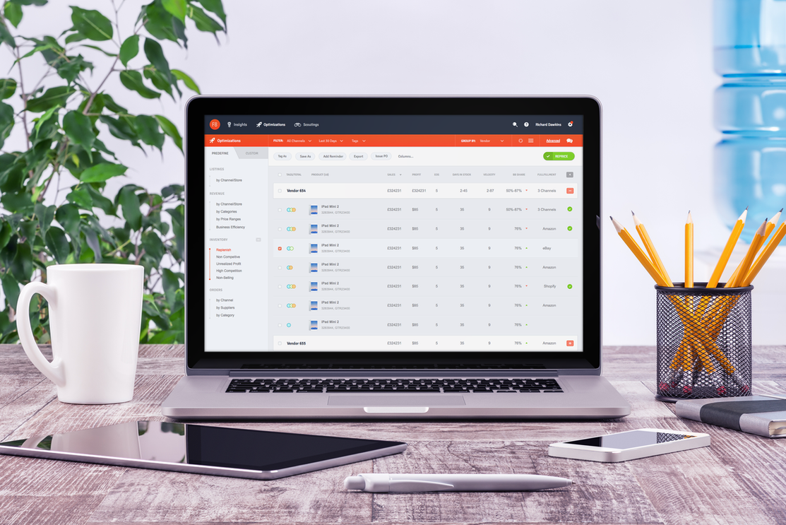 Online trading management app