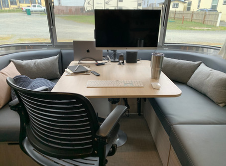 Airstream Mobile Office Setup