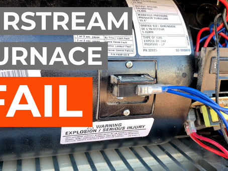 YouTube Weekly VLOG   EP14   Airstream Furnace Fail and Quick Update