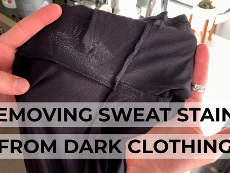 How to Remove Sweat Stains from Dark Clothes | Life Hack