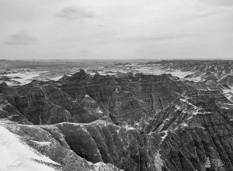 Western Shadows Gallery | Snow in the Badlands
