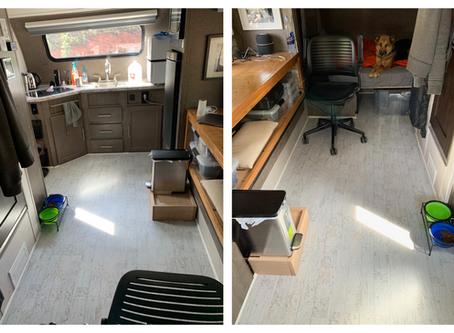 RPOD Camper Modifications   Floor Recovering