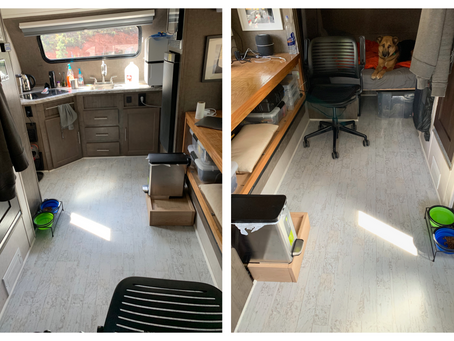 RPOD Camper Modifications | Floor Recovering