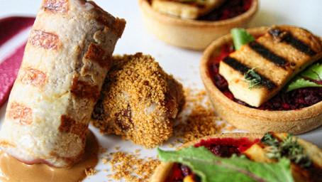 Pork Loin Rolls With Mushrooms & GoatHalva