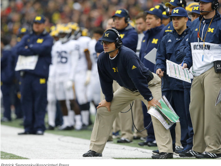 What Happens to Jim Harbaugh in Big Games?